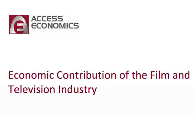 Economic Contribution Report of the Film & Television Industry  Australia 2011