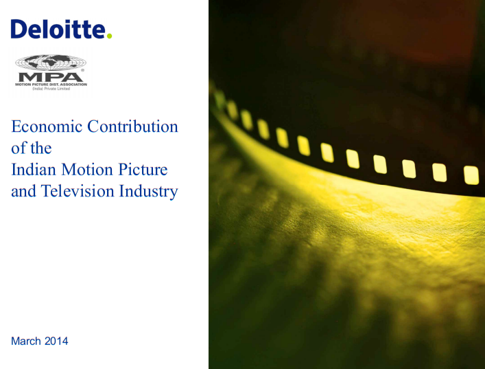 Economic Contribution of the Indian Motion Picture and Television Industry