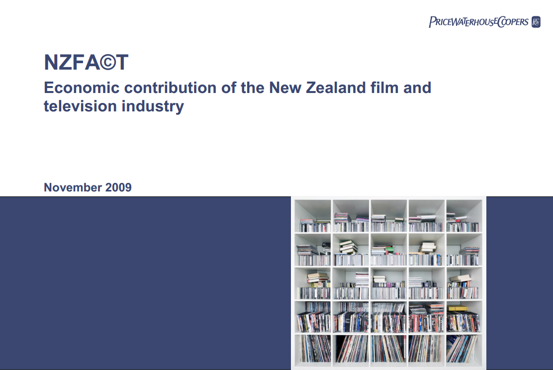 Economic Contribution of the New Zealand Film and Television Industry 2009