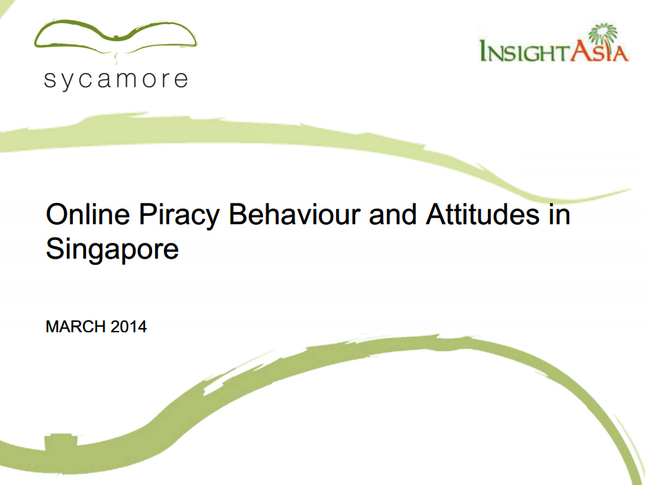Online Piracy Behaviour and Attitudes in Singapore